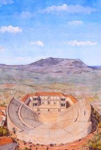 greco-romain-segesta-theatre-theatre-paysage