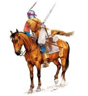 Arquero a caballo de Borgoña, 1475