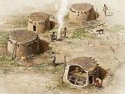 Mud brick huts