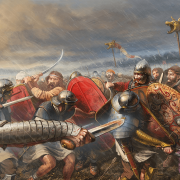 Third battle of Tapas or Tapae year 101. A storm that was unleashed indicated to the Romans that the god Jupiter with his lightning was on his side.