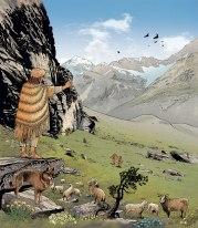 Chalcolithic herder in Zermatt, the Alps